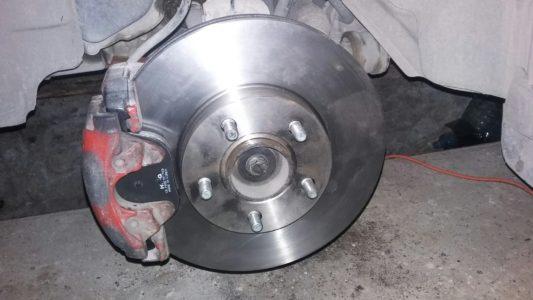 замена передних тормозных дисков фокус 2